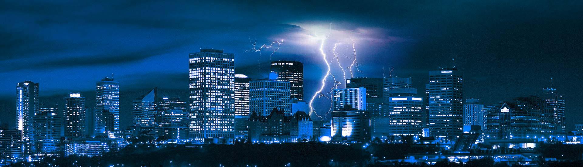 Edmonton Skyline   Lightning IT Services   Alberta's Top Choice for IT Services